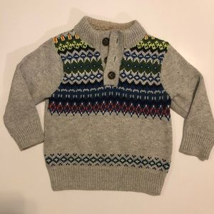 Baby Gap Sweater w/ Collar Lining 12-18M